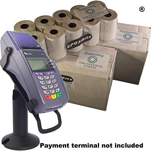 eposbits® Marke Full Größe große Rollen für passend für VeriFone VX510vx-510VX 510Kreditkarte Terminal?40Rollen?2Boxen (Chip & Pin) Vx-terminal