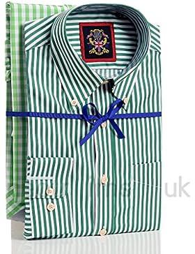 Janeo Mens Shirts Camicia Casual - A righe - Senza maniche - Uomo