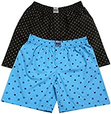 UNO Boys Printed Boxer Shorts Pure Cotton (3,5) Combo of 2