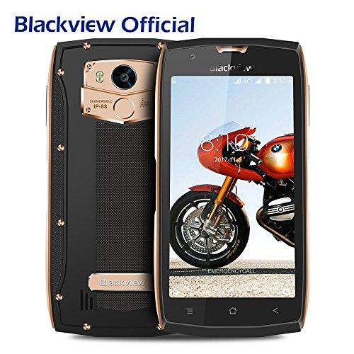 Blackview BV7000 Pro 4G Móviles libre Dual SIM IP68 Teléfono Móvil (Android 6.0, Octa Core, 4GB RAM, 64GB ROM, cámara 13MP, 5.0 pulgadas pantalla) - Dorado