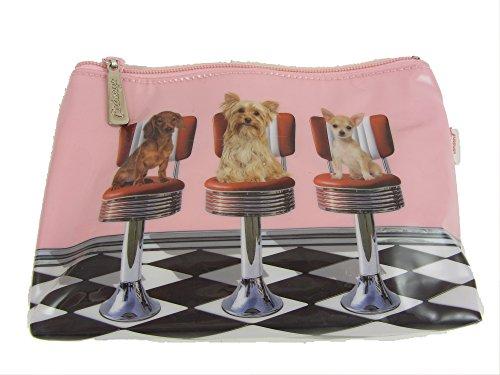 Chiens sur Chaises de barbier Lavage de maquillage trousse de toilette sac par Catseye