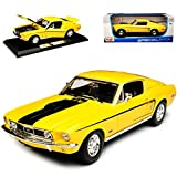 alles-meine.de GmbH Ford Mustang I 2. Generation GT Cobra Jet Coupe Gelb 1968 1/18 Maisto Modell Auto
