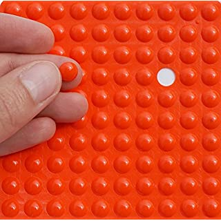Simply the Best Small ORANGE 3M RUBBER FEET Bumpons ~ 8mm Dia x 2mm Height ~ Adhesive Anti-Slam Furniture Unit Door Protectors (200 Individual Bumpons)