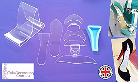 Fondant High Heel Shoe Kit + Blue Foot for Cake Decoration and Cake Toppers ( 11 parts)