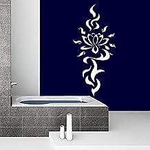 Adhesivos de pared Yoga Flor etiqueta de la etiqueta Lotus Namaste Vinilo Oum OM sesión Inicio Diseño de la decoración del interior Dormitorio Estudio de Arte murales MN771