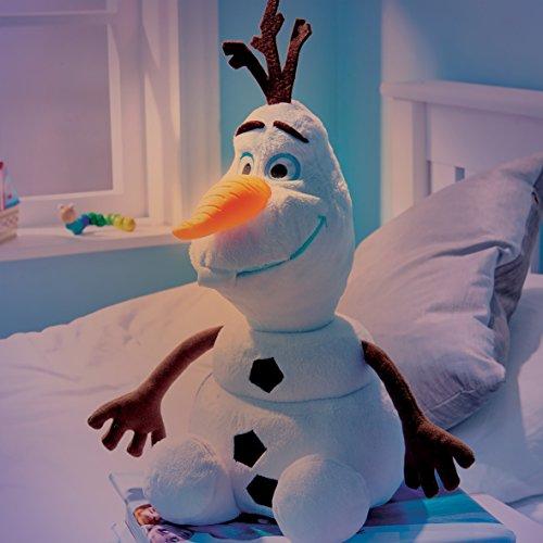 nigin Olaf Nachtlicht + Plüschfigur Nachttischlampe Frozen Anna ELSA Sven ()