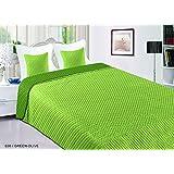 Doppelseitige Bettdecke Vigo II 200x220 Grün Olive 036 Tagesdecke Zweiseitige