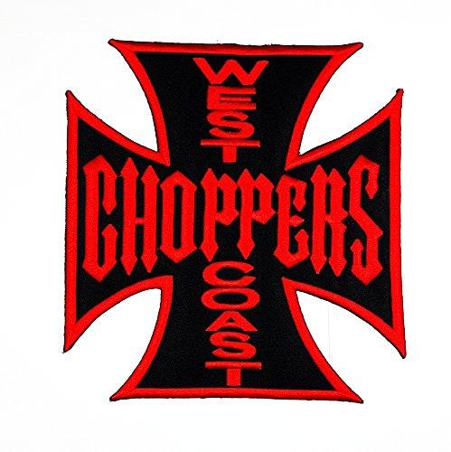 rabana XXL West Coast Choppers Kreuz Christian Jesus Motorrad Biker Club Patch Sew Iron on gesticktes Badge Schild (Christian Kostüme)
