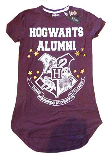 Donna Ragazze Harry Potter Camicia da notte baby-doll Hogwarts Burgandy M