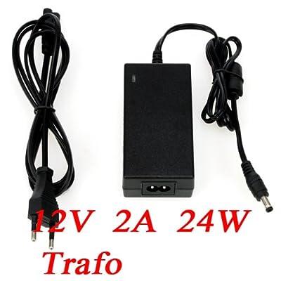 12V 2A 24W Netzteil AC Adapter Trafo für LED SMD RGB Strips