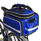 Fahrradtasche, Bodecin Outdoor Rucksack Fahrrad Rucksack Bike Gepäcktasche Gepäck Paket Rack Taschen Gepäckträger Tasche mit Regendichtes Abdeckung(Blau)