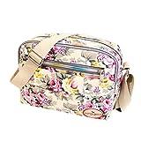 Subfamily® Fashion Women Leinwand Crossbody Bag Schultertasche Messenger Bag Kosmetiktasche Frauen Damen Tasche Handtasche Retro und klassisches Design (weiß)
