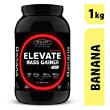 Sinew Nutrition Elevate Mass Gainer with Digestive Enzymes, 1 Kg (Banana Flavour)