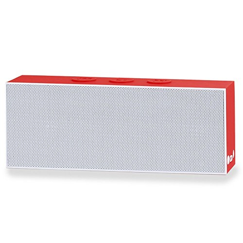 August SE30 - Tragbarer Bluetooth Lautsprecher (weiß-rot) 500-watt-stereo-system, Bluetooth