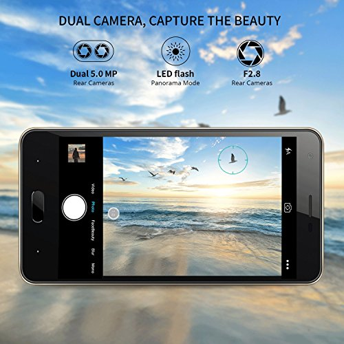 Smartphone Baratos  DOOGEE X20L Dual SIM Moviles Libres Barato  4G Android 7 0 Telefonos  5 Pulgadas HD IPS Display y MT6737 Quad Core Movil  2GB RAM