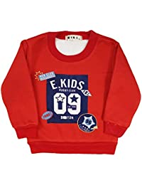 Miss U Baby Boys Kids Full Sleeves High Quality Winter Wear Sweatshirts Cute Graphic Print Top With Inner Fur