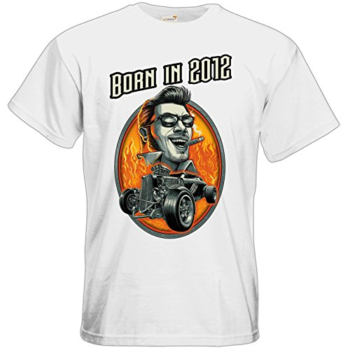 getshirts - RAHMENLOS® Geschenke - T-Shirt - Hotrod - Born in 2012 - white M