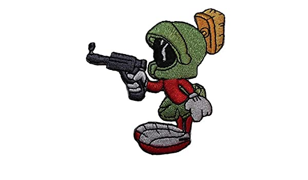 Marvin The Martian Pointing Gun Embroidered Figure Patch