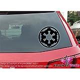 Star Wars Coche Ventana Pared Empire Logo Calcomanía Laptop Negro Pegatina by Inspired Walls®