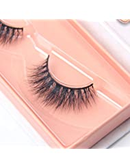 Arimika 3D Handmade Lightweight Natural Looking Fluffy Fake Mink Hair False Eyelashes For Makeup 1 Pair Pack