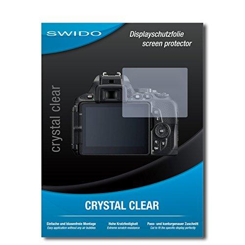 SWIDO Displayschutzfolie für Nikon D5600 [3 Stück] Kristall-Klar, Extrem Kratzfest, Schutz vor Öl, Staub und Kratzer/Glasfolie, Displayschutz, Schutzfolie, Panzerfolie