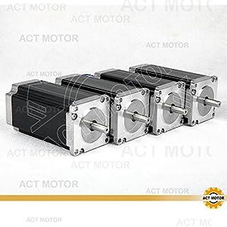 ACT Motor GmbH 4PCS Nema 23 Schrittmotor 23HS2430 112mm 3.0N.m,3.0A,single shaft