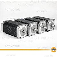 ACT Motor GmbH 4pcs NEMA 23Motor Paso 23hs2430112mm 3.0N.m, 3.0A, Single Shaft