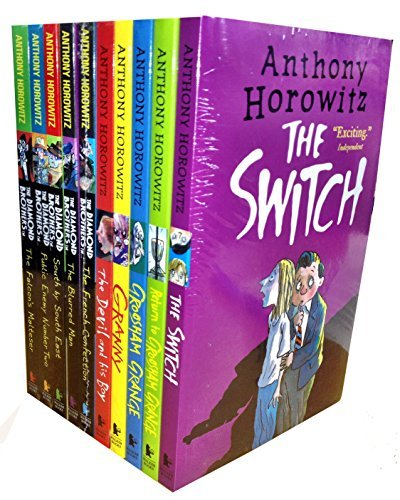 Anthony Horowitz Wickedly Funny 10 Children Books Collection Set (The Switch, Return to Groosham Grange, Granny, The Devil and his Boy, The French Confection, The Blurred Man, South by South east, Public enemy Number two, The Falcon's Malters) by Anthony Horowitz (January 1, 2015) Paperback