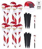 Lunartec Deko-Solarlampen: Solar-LED-Gartenstecker 'Weihnachtsmann', IP44, im 10er-Set (Deko für Weihnachten, Xmas, X-Mas, Christmas, Winter)
