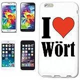cubierta del teléfono inteligente Samsung Galaxy S3 i9300 I Love Wört Cubierta elegante de la cubierta