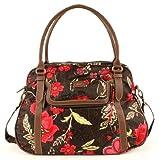 Oilily Paisley Flower Carry All Braun Damen Handtasche Tasche Henkeltasche