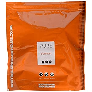5174ccYcmRL. SS300  - Bodybuilding Warehouse Pure Dextrose Carbohydrate Powder Unflavoured 2 kg