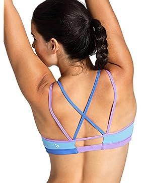 CRZ YOGA - Sujetador Deportivo Yoga Cruzados Sin Aros Para Mujer