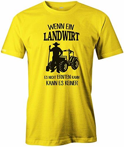 Jayess Wenn ein Landwirt ES Nicht ERNTEN Kann - Kann ES Keiner - Herren - T-Shirt Gelb