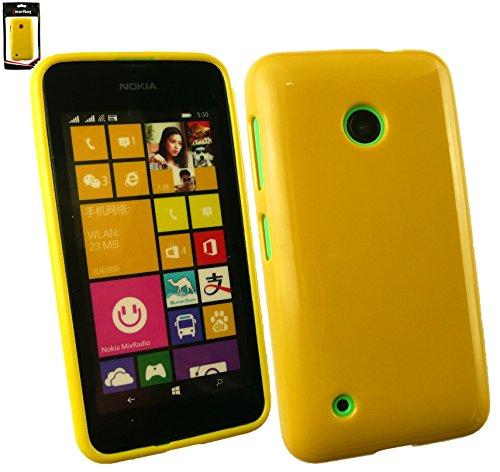Emartbuy® Nokia Lumia 530 / Lumia 530 Dual Sim Glänzend Gel Hülle Schutzhülle Case Cover Gelb Handy-fall Nokia Lumia 530