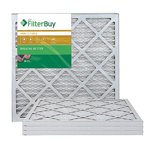 AFB Gold MERV 11 20x20x1 Pleated AC Furnace Air Filter. Pack of 4 Filters. 100% produced in the USA. by FilterBuy -