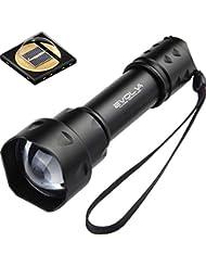 Evolva Future Technology 38mm T20 IR luz infrarroja linterna antorcha lente de visión nocturna por infrarrojos de luz de la linterna - La luz infrarroja es invisible al ojo humano - Para ser utilizado con dispositivos de visión nocturna (sólo la antorcha)