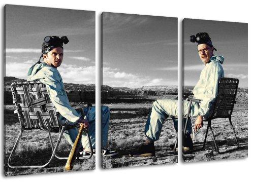 rz/weiss Motiv mit Farbelementen, 3-teilig auf Leinwand (Gesamtformat: 120x80 cm). Hochwertiger Kunstdruck als Wandbild. Billiger als ein Ölbild! ACHTUNG KEIN Poster oder Plakat! ()