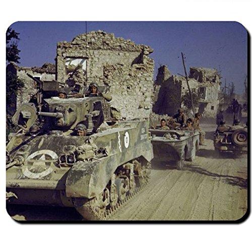 Preisvergleich Produktbild US Army WW2 Europe Amerika Wk Panzer Stuart Schwimmwagen Geländewagen Gi´s Amis M3 Militär Einheit - Mauspad Mousepad Computer Laptop PC #7947