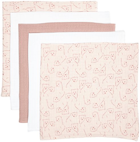 NAME IT Mädchen Halstuch Nit 5P Nappies G Mznb, Rosa (Zephyr), One size