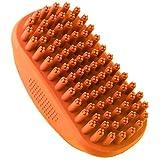 Pennello di cane & gatto spazzola Belle & Blu | cani pettine con effetto massaggio | Anche per cani & gatti con pelle sensibile | Facile Pulizia | Resistente all' acqua