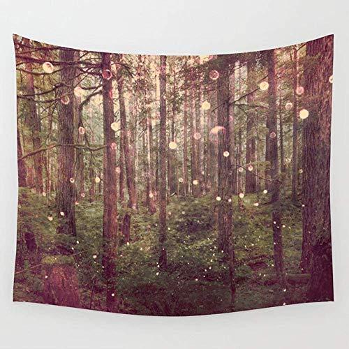 Alfreen Tapisserie-Dekor, Autumn Lights Wall Tapestry Hanging Tapestries,Boho Mandala Tapestry,Wall Art for Bedroom Living Room Dorm 80X60 inches -
