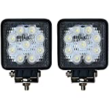 Aikar 2 x 27W LED luz de trabajo Faro Coche Moto luces antiniebla Focos Lampara ATV SUV 4WD( 27wf)