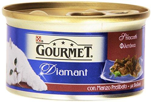 Gourmet diamant con manzo prelibato, alimento completo per gatti - 85 g