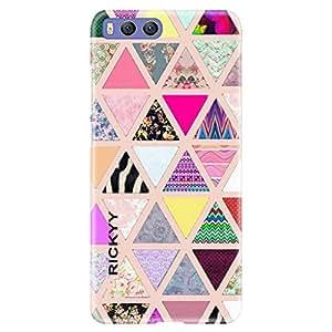 RICKYY In color Triangle design printed matte finish back case cover for Xiaomi Mi 6
