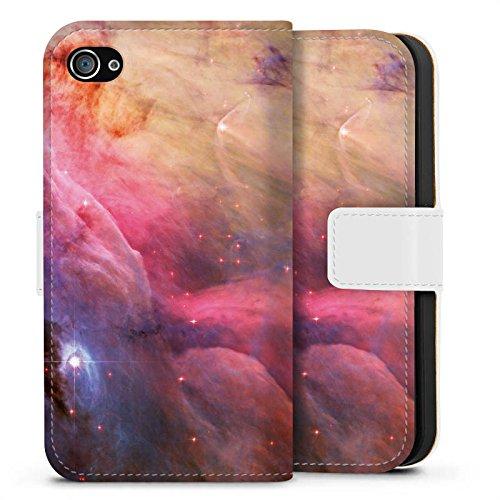 Apple iPhone X Silikon Hülle Case Schutzhülle Galaxy Space LL Ori und der Orion Nebel Sideflip Tasche weiß