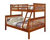 Twin over Full Bunk Bed with Built-In Ladder Finish: Espresso by DONCO