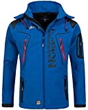 Geographical Norway Herren Softshelljacke Tambour Kapuze, Stehkragen royal L
