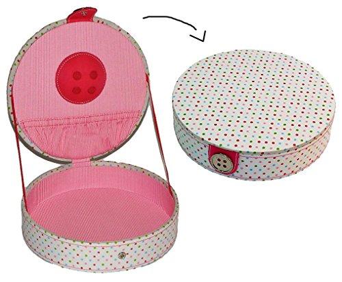 alles-meine.de GmbH Utensilienbox - mit Deckel und Nadelkissen - erweiterbar ! Stoff - Nähkorb Nähkasten Nähkästchen - bunt Handarbeitskorb