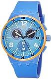 Swatch Herren Digital Quarz Uhr mit Silikon Armband SUSN413